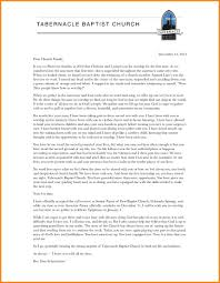 6 pastoral resignation letter address example