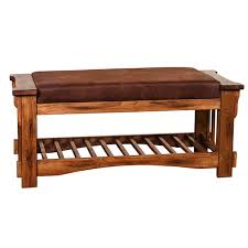 Rustic Oak Bench Sunny Designs 2237ro Sedona Bench In Rustic Oak With Cushion Seat