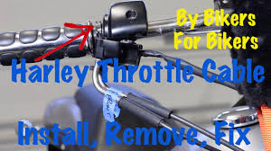 harley davidson throttle cable install remove replace repair