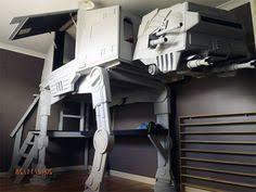 Star Wars Bedroom Theme Star Wars At At Imperial Walker Loft Bed Legos Lofts And Star