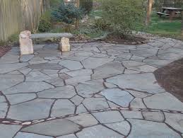 Slate Rock Patio by Floor Great Flagstone Pavers With Round Designer Pavers And
