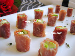 dining canapes recipes ham roll appetizers prosciutto rollup appetizers dining