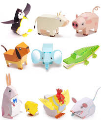3d diy animal paper folding puzzle educational toy handmade craft