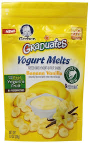 graduates snacks gerber graduates fruit gerber graduates yogurt melts banana