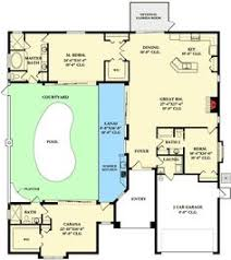 house plan with courtyard plan 33160zr net zero ready courtyard house plan courtyard house