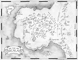 Blank Fantasy World Map by Black And White Fantasy Maps