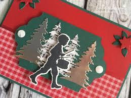 handmade christmas card using stampin ups musical season carols