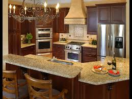 Two Kitchen Islands Beautiful Round Chandelier Above Two Tier Kitchen Island With