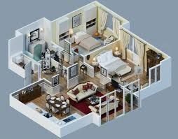 two house plan impressive two bedroom 3d house plans your plan now