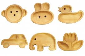 baby plates bpa free wooden character plates add some zest to mealtime