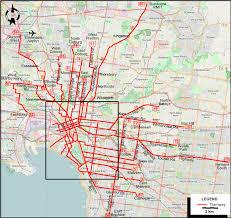 melbourne tram map melbourne 2014