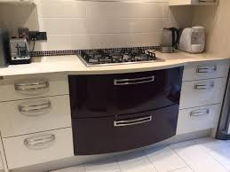 cooke and lewis kitchen cabinets santini grey gloss slab kitchen b and q kitchen drawer fronts