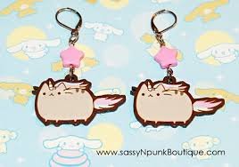 pusheen earrings kawaii jewelry from sassynpunk hawaii kawaii