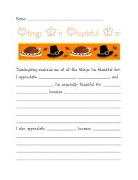 thanksgiving writing assignment what i m thankful for by ms third
