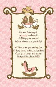 brown u0026 pink cowgirl baby shower invites cowgirl expressions