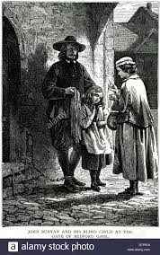 Blind Christian John Bunyan His Blind Child Gate Bedford Gaol Pilgrim U0027s Progress