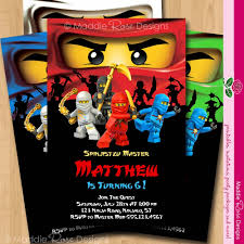 Personalized Birthday Invitation Cards Ninjago Invitation Birthday Party Printable Invite You Print