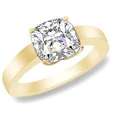 gold cushion cut engagement rings preset cushion cut diamond engagement rings on 14k yellow gold