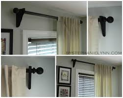 stylish make your own wooden ball curtain rod set with brackets