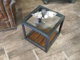 table bout de canap table bout de canapé verre bois métal sur mesure micheli design