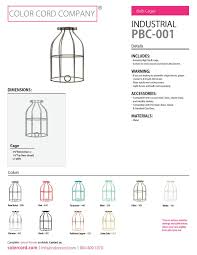 industrial light bulb cage raw metal color cord company