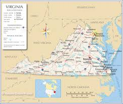 virginia map reference map of virginia usa nations project