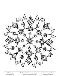 snowflake coloring pages olegandreev