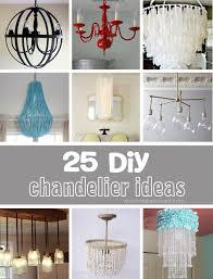 Diy Glass Chandelier Design Of Diy Glass Chandelier 25 Diy Chandelier Ideas Make It And