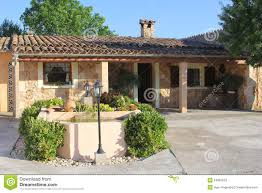 luxury mediterranean home mallorca spain stock photo image