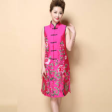 modern dress aliexpress buy vintage women s modern satin qipao