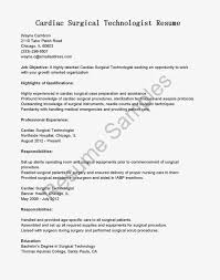 Surgical Tech Resume Examples by Surgical Technologist Resume Free Resume Example And Writing