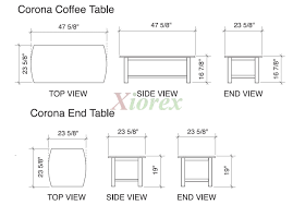 average kitchen table size interior average coffee table size oval of for teaternovacom