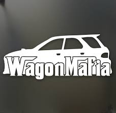 subaru outback lowered wagon mafia decals stickers ebay