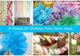 birthday decorations to make at home how to make a self made home decoration for a birthday party theme