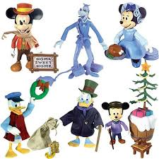 disney store mickey s carol figure play set