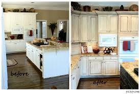 kitchen stunning painted white kitchen cabinets before and after