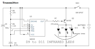 ir infrared remote control switch circuit and applications