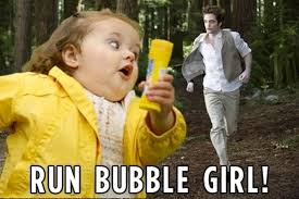 Meme Running Girl - chubby bubble girl meme shivisays