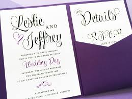 pocket invitations purple wedding invitation lavender wedding invitation wedding