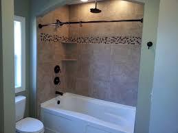 bathroom tub shower tile ideas rock wall design for contemporary bathroom ideas with stylish walk