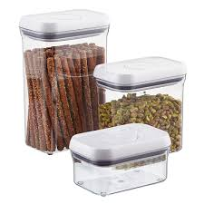 canisters for the kitchen oxo good grips rectangular pop canisters the container store