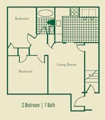 2 Room Flat Floor Plan 2 3 Bedrooms Apartments Floorplans Norfolk Archer U0027s Green