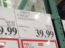 Toaster Costco Costco 1140772 Cuisinart 4 Slice Toaster Tag U2013 Costcochaser