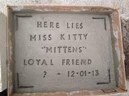diy pet tombstone memorial