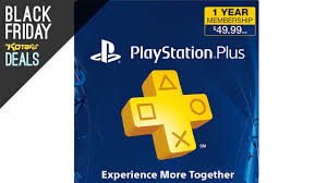 amazon playstation black friday playstation plus 1 year membership with bonus video credit for 30