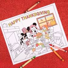 mickey u0026 friends thanksgiving coloring disney family