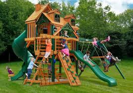 Wooden Backyard Playsets Finding The Perfect Big Backyard Playsets Aroi Design