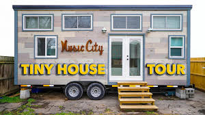 modern tiny house with two lofts in music city youtube