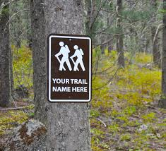 custom hiking trail sign metal sign personalized for you