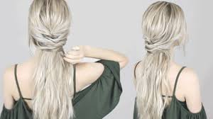easy romantic half up half down hairstyle perfect for long